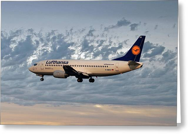Lufthansa Boeing 737-300 Greeting Card