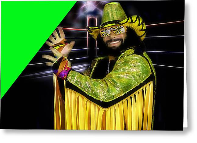 Macho Man Randy Savage Collection Greeting Card by Marvin Blaine