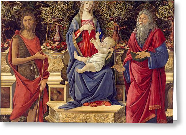 Madonna With Saints Greeting Card