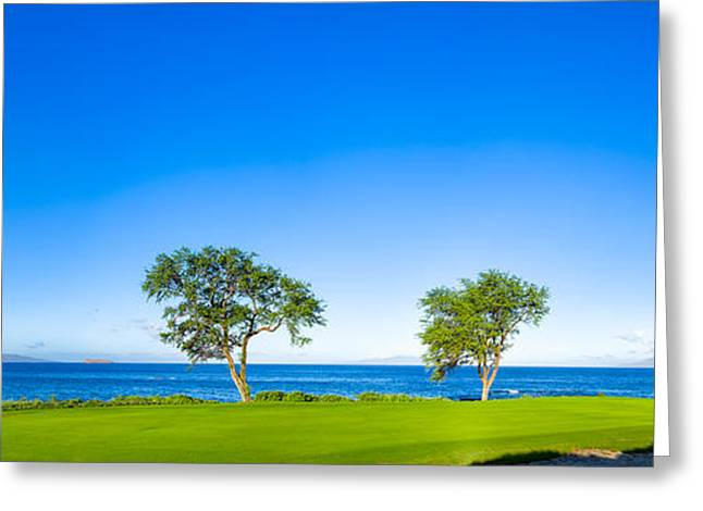 Makena Golf Course In Makena Area Greeting Card by Panoramic Images