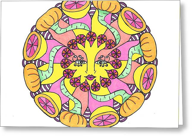 Fruit Face Greeting Card