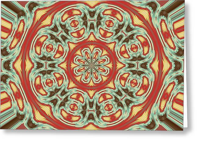 Mandala Greeting Card by Gaspar Avila