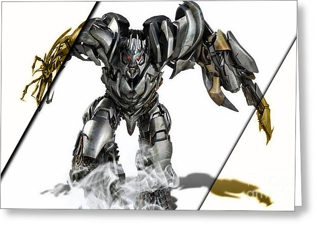 Megatron Transformers Collection Greeting Card by Marvin Blaine