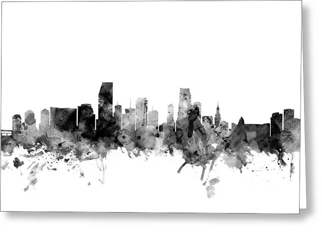 Miami Florida Skyline Greeting Card