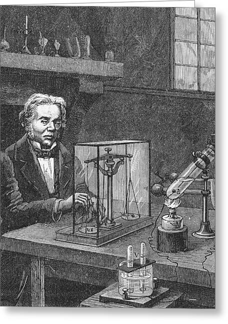 Michael Faraday (1791-1867) Greeting Card by Granger