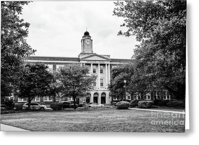 Mississippi College - Nelson Hall Bw Greeting Card