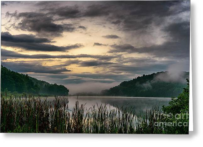 Misty Summer Dawn Greeting Card
