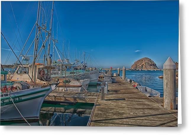 Morro Bay Harbor Greeting Card