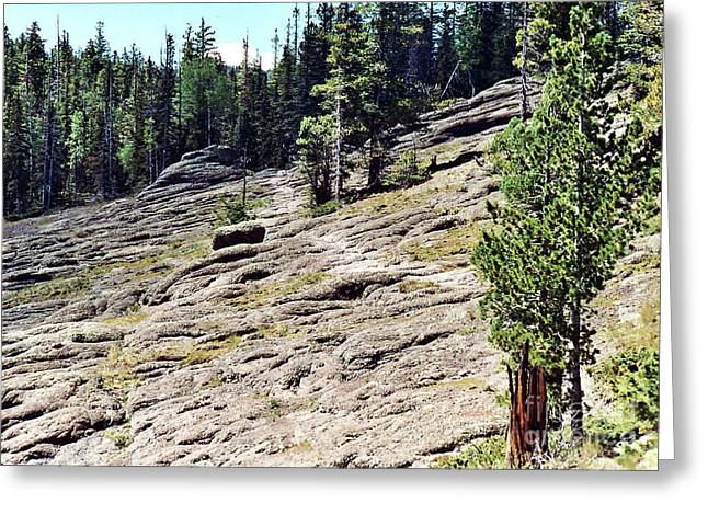 Greeting Card featuring the photograph Mount Baldy Trail by Juls Adams