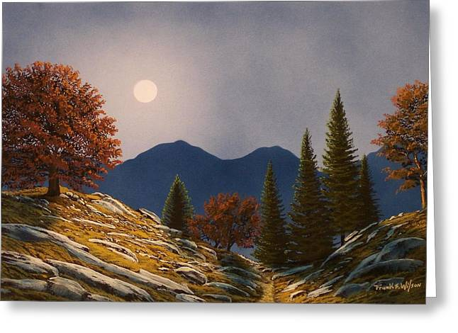 Mountain Moonrise Greeting Card by Frank Wilson
