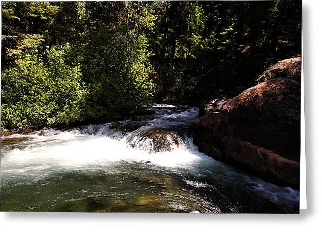 Mountain  River Greeting Card by Mark Smith