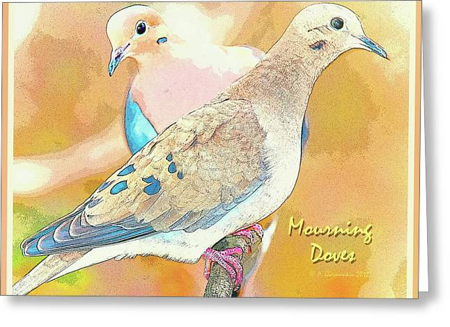 Mourning Dove Pair  Greeting Card by A Gurmankin