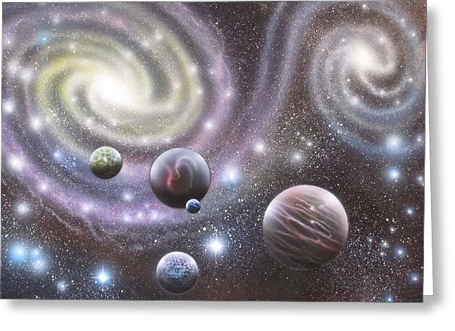 mULTIVERSE 223 Greeting Card by Sam Del Russi