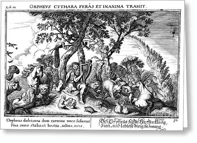 Mythology: Orpheus Greeting Card by Granger