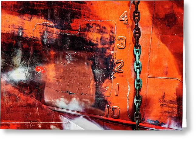 Nautical Industrial Art Greeting Card