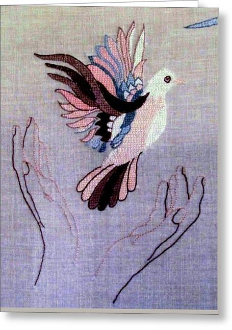 Needle Craft Greeting Card by Joyce Woodhouse