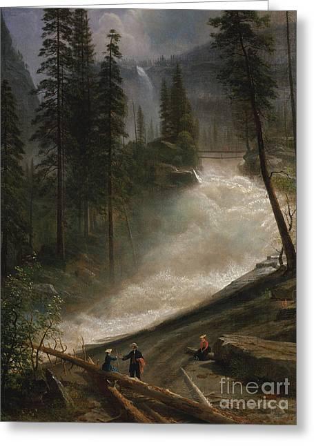 Nevada Falls, Yosemite Greeting Card by Albert Bierstadt