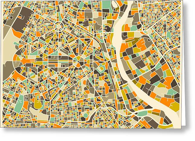 New Delhi Map Greeting Card