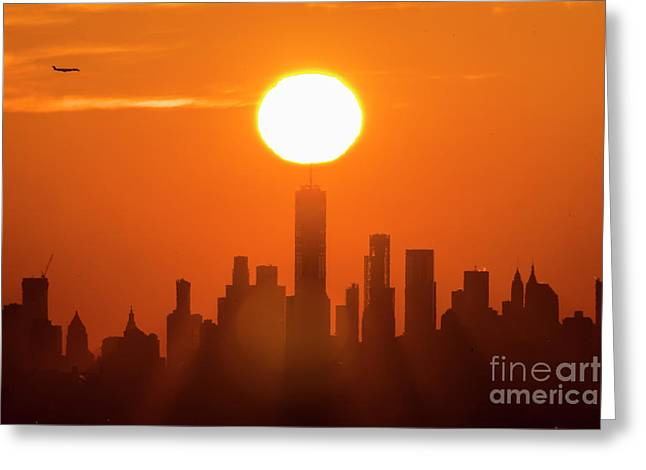 New York City Sunrise Greeting Card