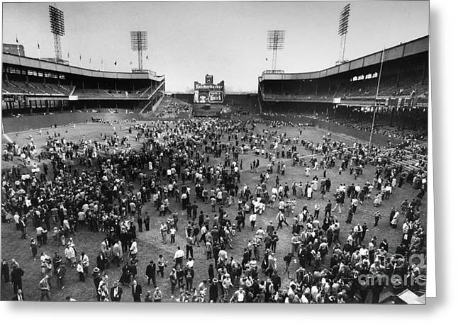 New York: Polo Grounds Greeting Card