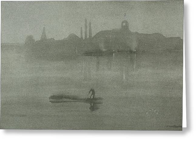 Nocturne Greeting Card by James Abbott McNeill Whistler