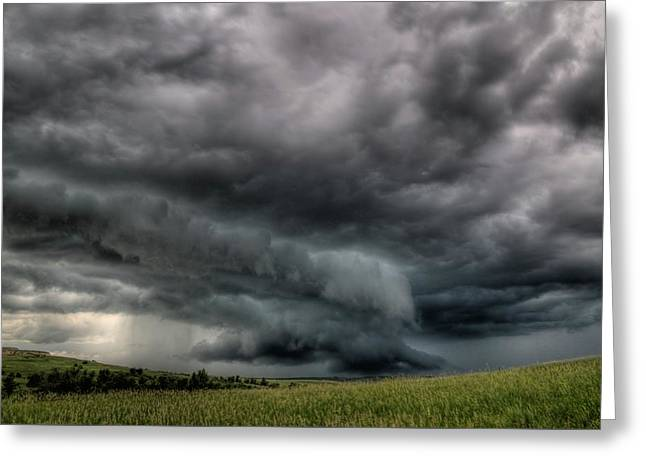 North Dakota Thunderstorm Greeting Card