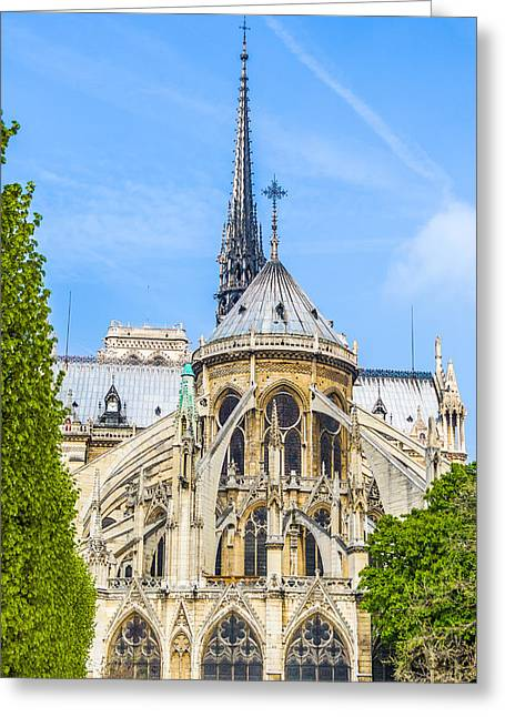 Notre Dame Cathedral Paris Western Facade Greeting Card by Nila Newsom