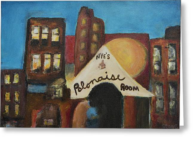 Greeting Card featuring the painting Nye's Polonaise Room by Susan Stone