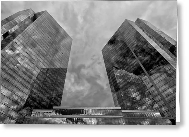Office Buildings White Plains Ny Greeting Card