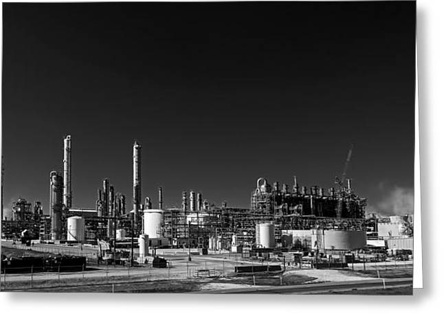 Oil Refinery - Groves Texas Greeting Card