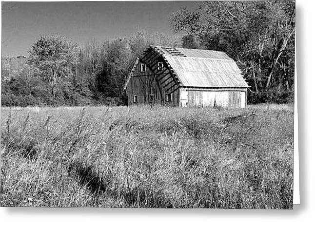 Old Barn In The Meadow Greeting Card by Scott D Van Osdol