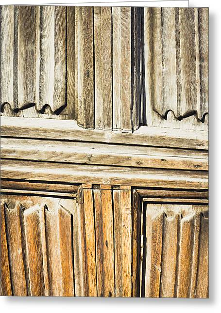 Old Wooden Panels Greeting Card by Tom Gowanlock