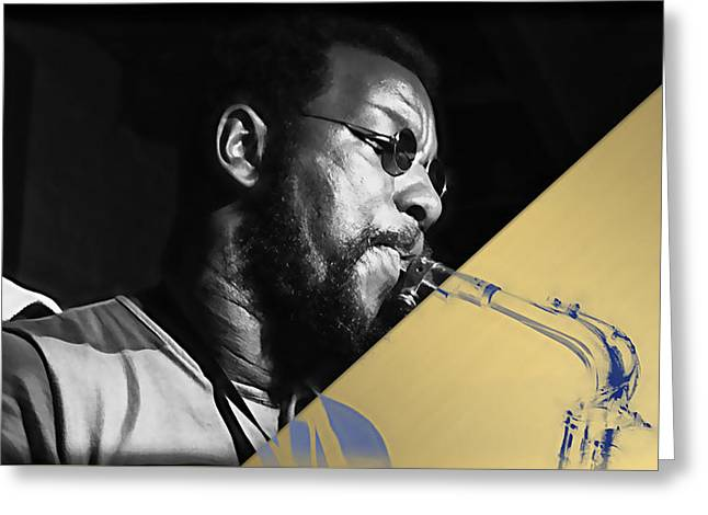 Ornette Coleman Collection Greeting Card by Marvin Blaine