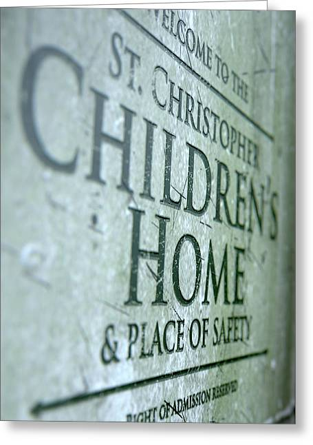 Orphanage Signage Greeting Card