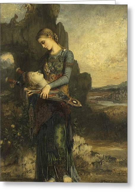 Orpheus Greeting Card by Gustave Moreau