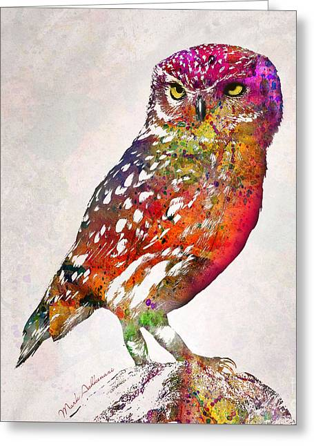 Owl  Greeting Card by Mark Ashkenazi