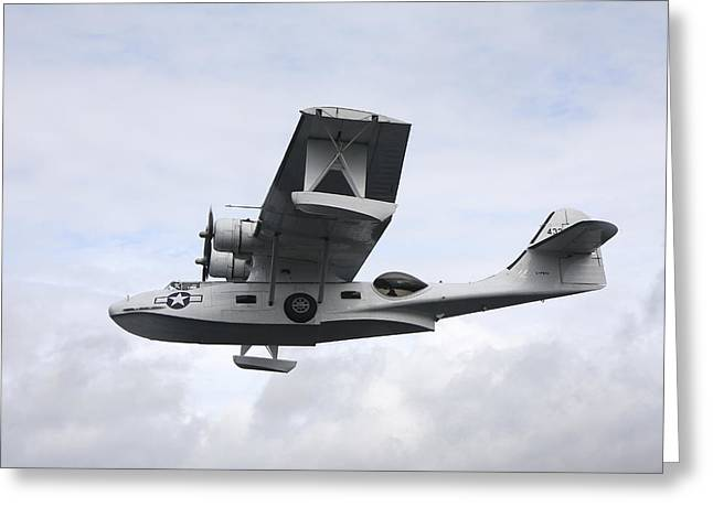 Pby Catalina Greeting Cards - Pby Catalina Vintage Flying Boat Greeting Card by Daniel Karlsson