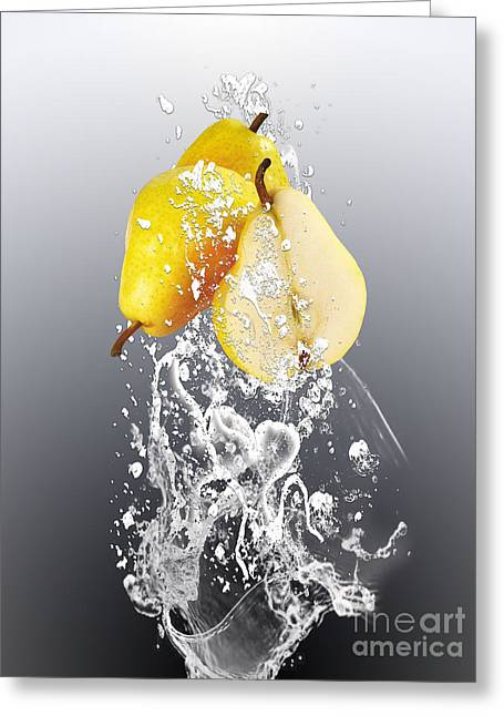 Pear Splash Collection Greeting Card by Marvin Blaine