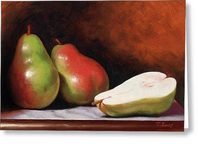 3 Pears Greeting Card