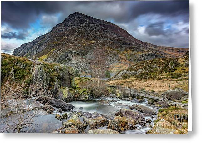 Pen Yr Ole Wen Mountain Greeting Card by Adrian Evans