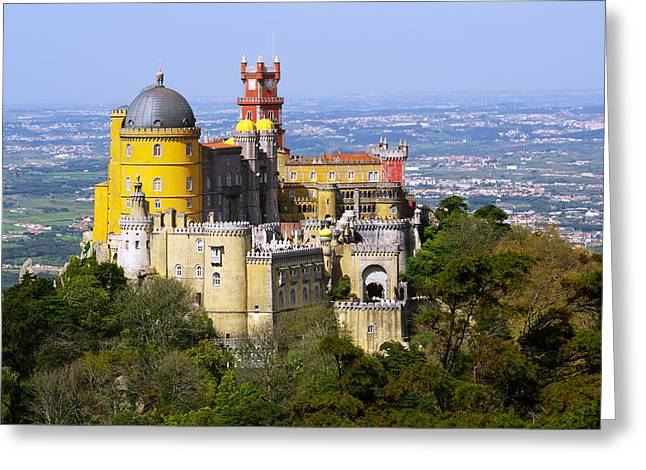 Unesco Greeting Cards - Pena Palace Greeting Card by Carlos Caetano