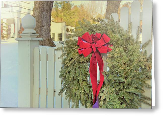 Picket Pine Greeting Card by JAMART Photography