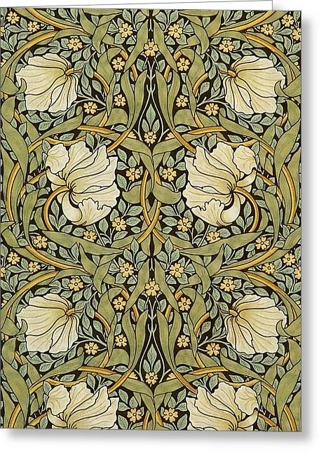 Pimpernel Greeting Card by William Morris