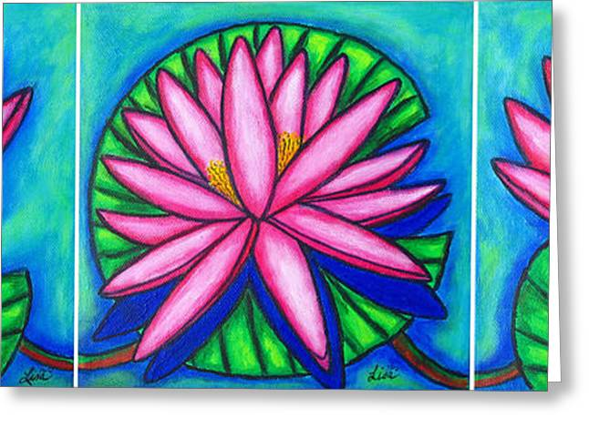 3 Pink Gems Greeting Card by Lisa  Lorenz