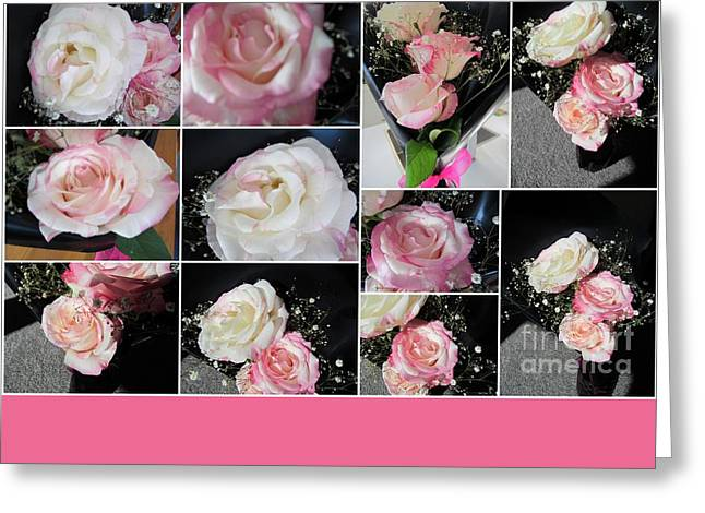 Pink Rose. Greeting Card by Joyce Woodhouse