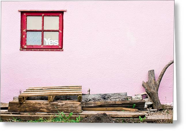 Pink Wall  Greeting Card