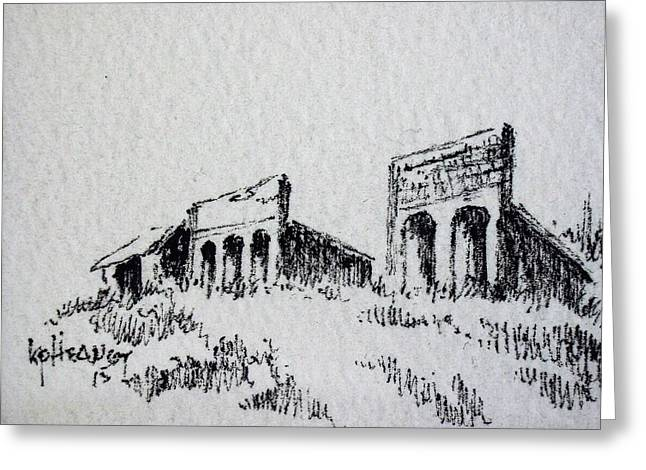 Pioneer Ghost Town Montana Greeting Card by Kevin Heaney