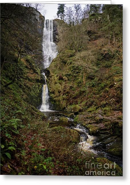 Pistyll Rhaeadr Waterfall, Wales Uk Greeting Card by Keith Morris