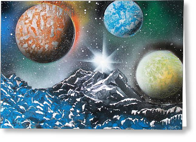3 Planets 4687 Greeting Card by Greg Moores