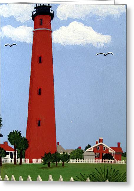Ponce Inlet Lighthouse Greeting Card by Frederic Kohli
